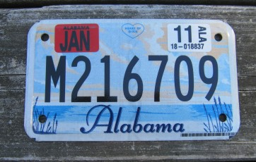 Alabama Motorcycle License Plate Sweet Home Alabama 2011