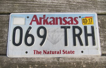 Arkansas Diamond The Natural State License Plate 2017