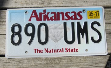 Arkansas Diamond The Natural State License Plate 2017 943 RFD