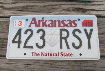 Arkansas Diamond The Natural State License Plate 2013