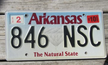 Arkansas Diamond The Natural State License Plate 2010