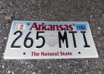 Arkansas The Natural State License Plate 2015