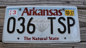 Arkansas Diamond The Natural State License Plate 2017 036 TSP