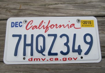 California Lipstick License Plate 2015 DMV