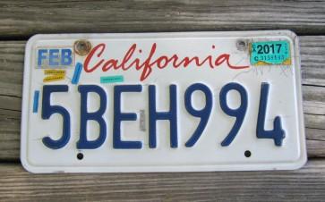 California Lipstick License Plate 2017