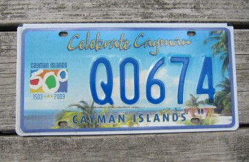 Cayman Islands Celebrate 500 Years License Plate Q1695
