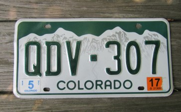 Colorado Mountain Scene License Plate 2017