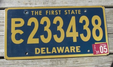 Delaware The First State License Plate 2005