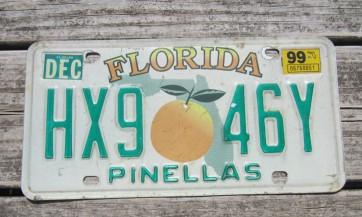 Florida Double Orange My Florida License Plate 2018 Sunshine State