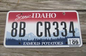 Idaho Scenic Famous Potatoes License Plate 2014
