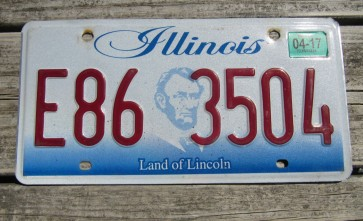Illinois Land of Lincoln License Plate 2017