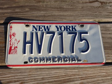 New York Statue of Liberty License Plate 1990s