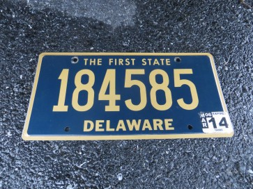Delaware The First State License Plate 2014