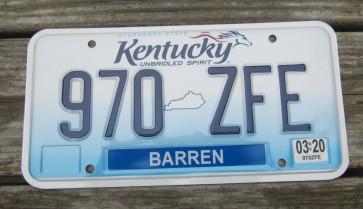 Kentucky Unbridled Spirit License Plate 2020