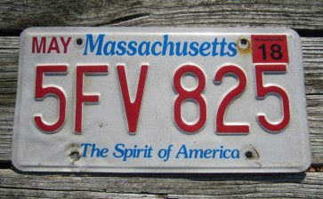 Massachusetts The Spirit of America License Plate 2018