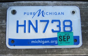 Michigan Motorcycle License Plate Pure Michigan 2016