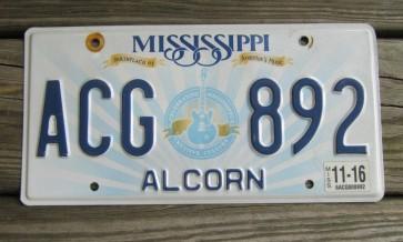 Mississippi Lucille License Plate 2016