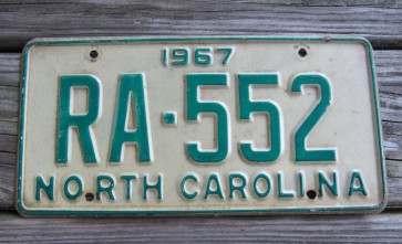 North Carolina License Plate First In Flight 2019