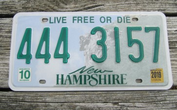 New Hampshire Old Man of The Mountain Live Free or Die License Plate 2019