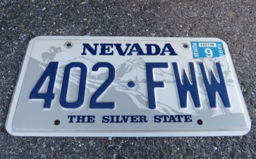 Nevada Big Horn Ram License Plate 1995 The Silver State