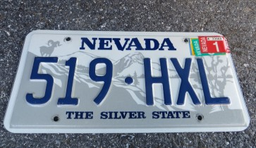 Nevada Big Horn Ram License Plate 2001 The Silver State