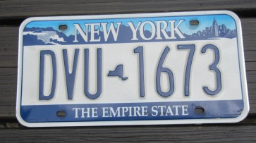 New York Motorcycle Gold License Plate The Empire State 2016