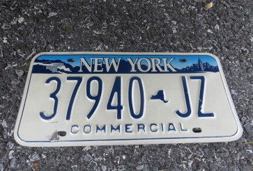 New York Blue White License Plate The Empire State Commercial