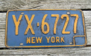 New York Motorcycle Gold License Plate The Empire State 2015