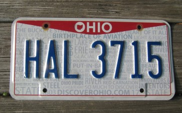 Ohio Rising Sun License Plate Birth Place of Aviation 2017