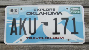 Oklahoma White Scissor Tail Bird License Plate Travel OK 2020