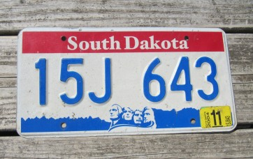 South Dakota Great Faces Great Places License Plate 2014