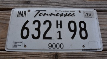 Tennessee Truck License Plate 2016