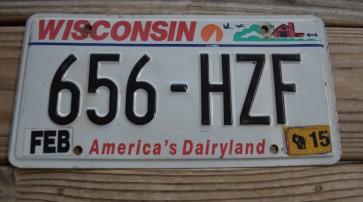 Wisconsin America's Dairyland License Plate 2015