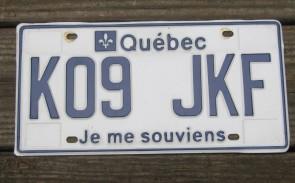 Quebec Canada Je Me Souviens License Plate