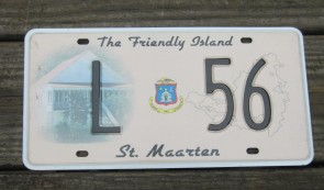 ST Maarten The Friendly Island License Plate