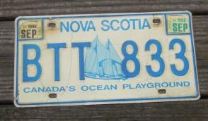 Canada Nova Scotia Bluenose Schooner License Plate 1998