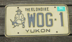 Yukon Canada The Klondike License Plate 1989