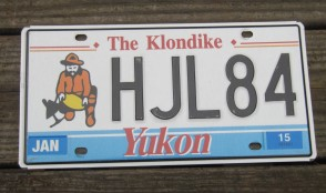 Yukon Canada The Klondike License Plate 2015