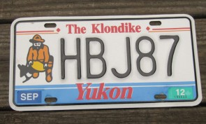 Yukon Canada The Klondike License Plate 2012