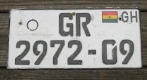 Africa Ghana License Plate 2000's Republic of Ghana