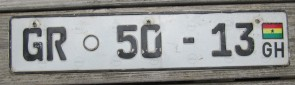 Africa Ghana Flag License Plate GR 50 13 Greater Accra