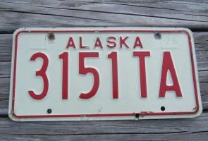Alaska License Plate AK 1976