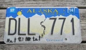 Alaska Gold Rush License Plate Centennial 2014