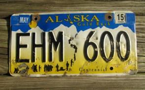 Alaska Gold Rush License Plate Centennial 2015