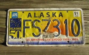 Alaska 50th Anniversary Celebrating State Hood License Plate 2010