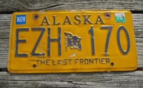 Alaska Yellow Blue Flag License Plate 2013