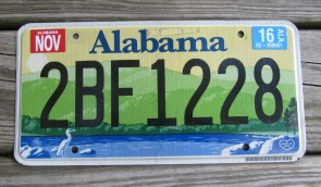 Alabama Green Mountains and River License Plate 2016
