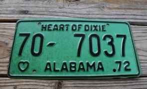 Alabama Black White License Plate M 1529 M