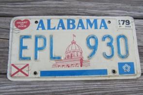 Alabama Capitol License Plate 1976 EPL 930