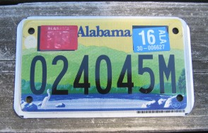 Alabama Motorcycle License Plate Sweet Home Alabama 2014
